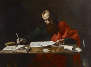 Valentin de Boulogne - Saint Paul Writing His Epistles - Google Art Project.jpg