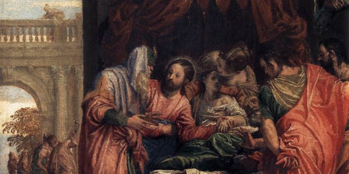 Raising of Jairus' Daughter by Paolo Veronese, 1546