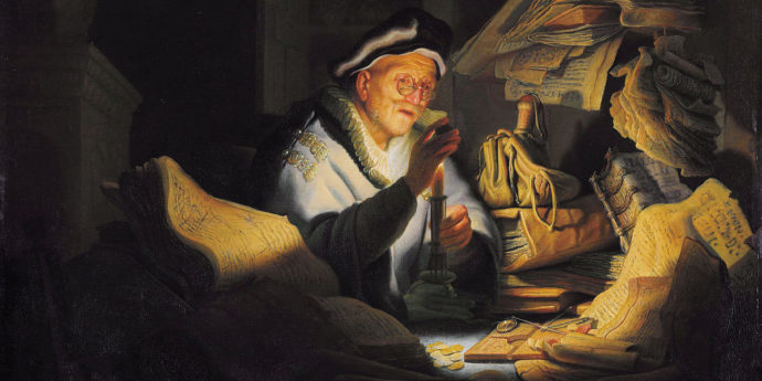 REMBRANDT VAN RIJN (1606-1669) - 1627 - The Rich Man from the Parable of the Rich Fool. Gemäldegalerie Berlin.